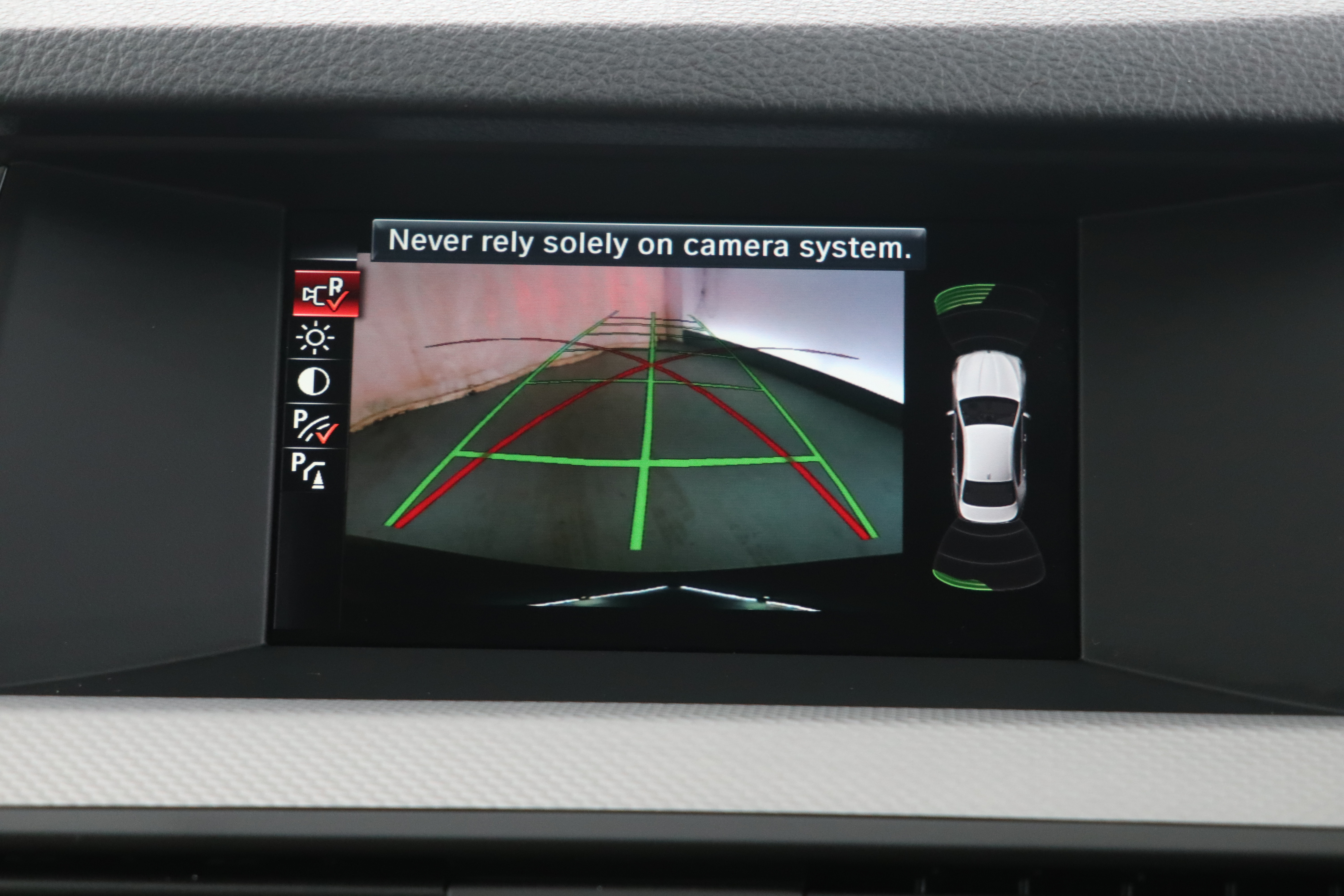 The car has a reversing camera to help park in tight spots.