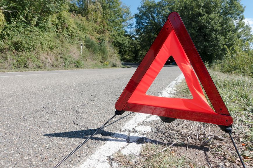 Red Oxford Compact Energency Warning Triangle